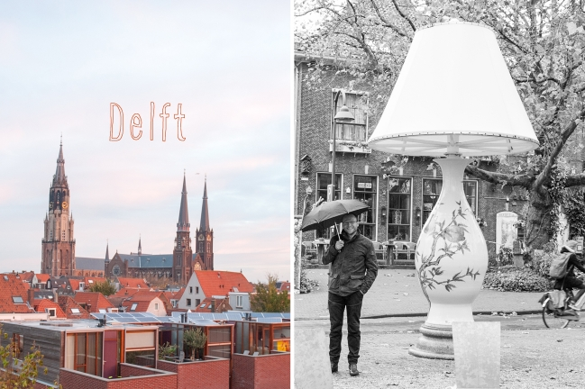 Delft Lamp || « Vine and the Olive »