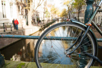 Bikes on the Canals of Amsterdam || « Vine and the Olive »