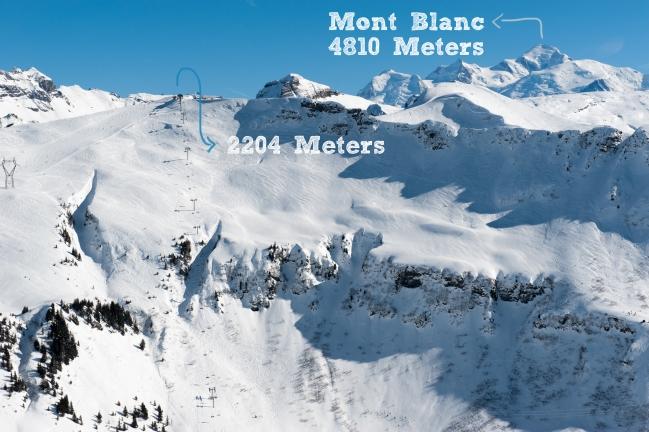 Les Carroz Mont Blanc Peak