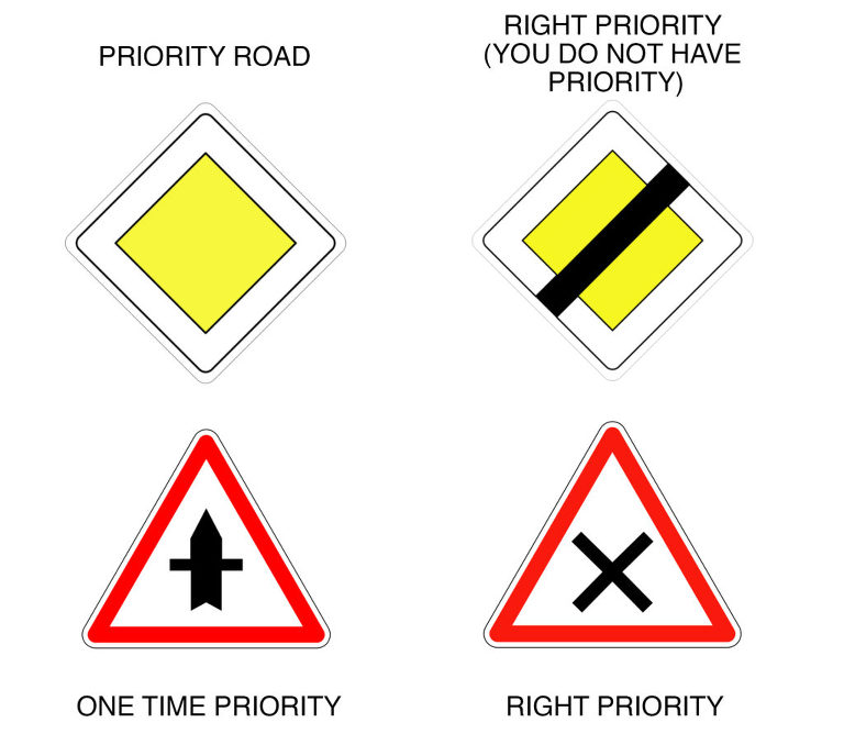 priority road signs in france